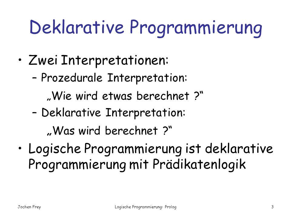 Deklarative Programmierung