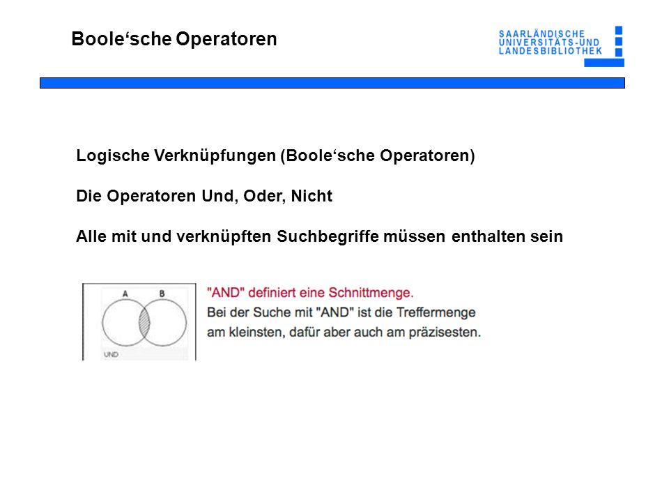 Boole'sche Operatoren