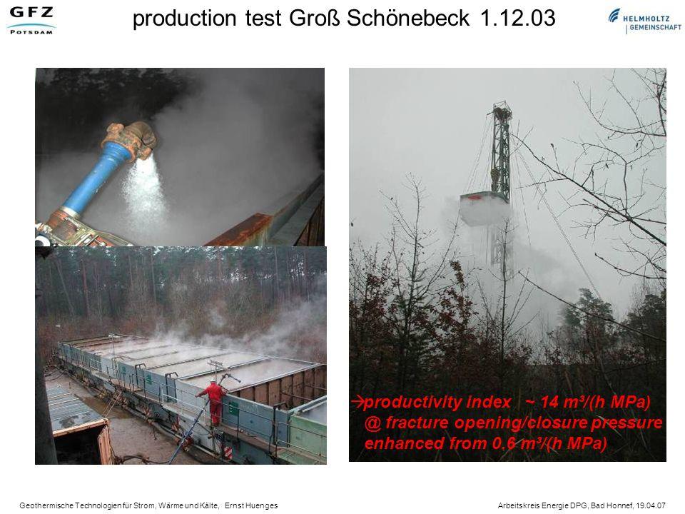 production test Groß Schönebeck 1.12.03