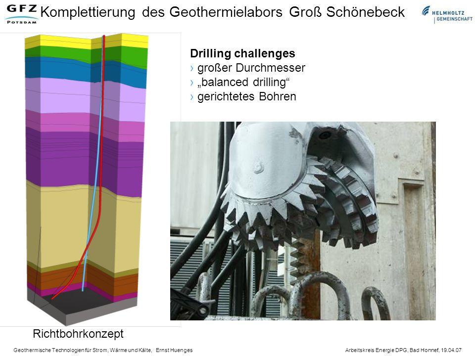 Komplettierung des Geothermielabors Groß Schönebeck