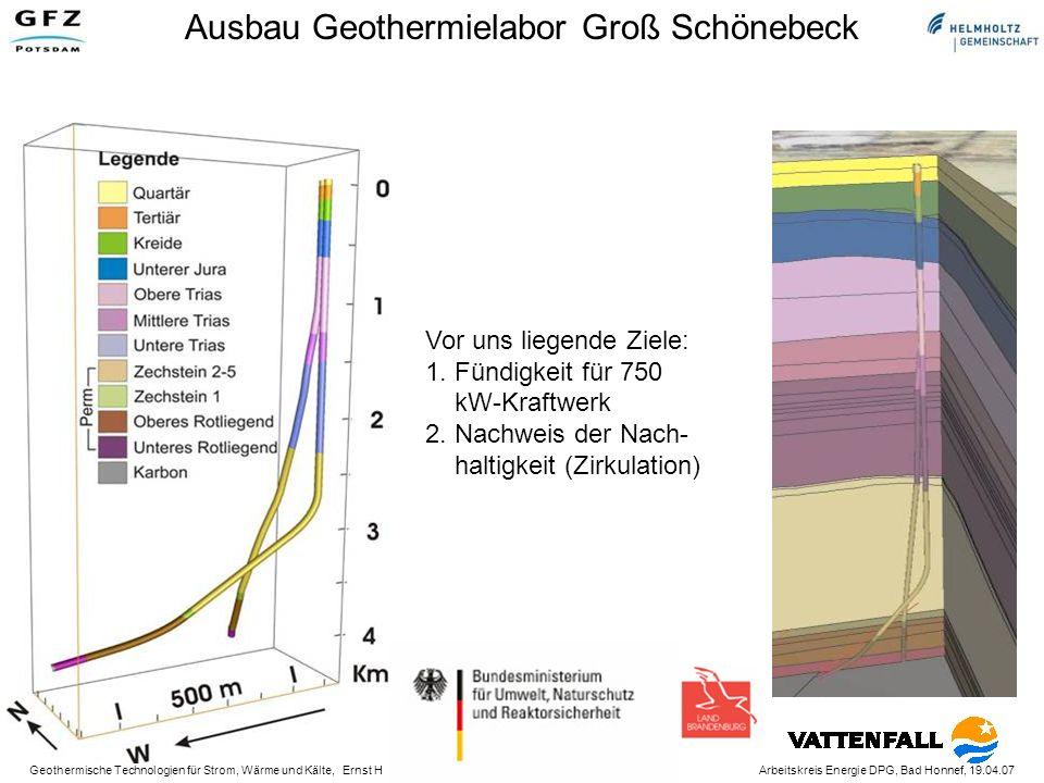 Ausbau Geothermielabor Groß Schönebeck