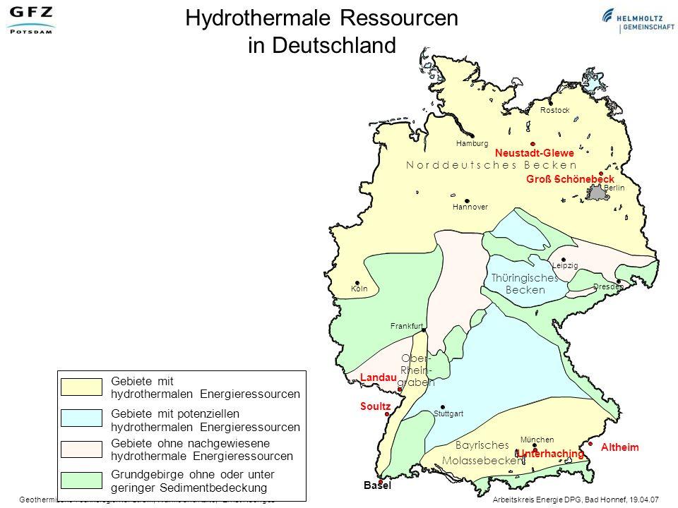 Hydrothermale Ressourcen in Deutschland