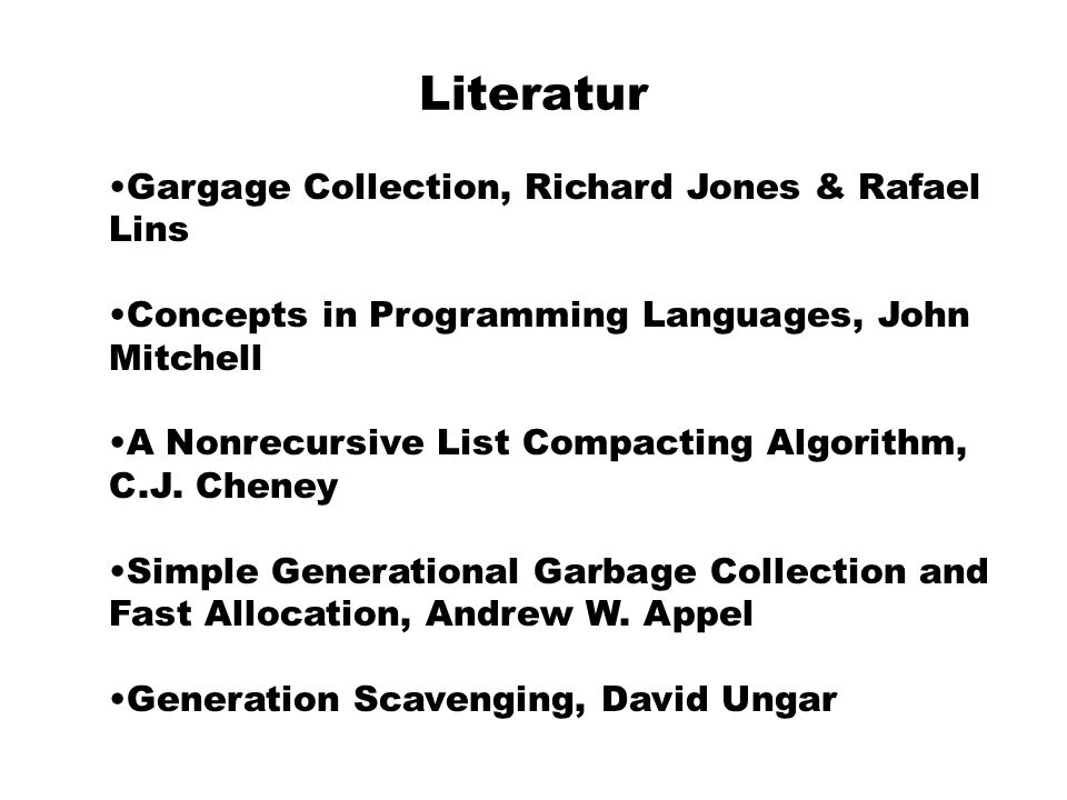 Literatur Gargage Collection, Richard Jones & Rafael Lins