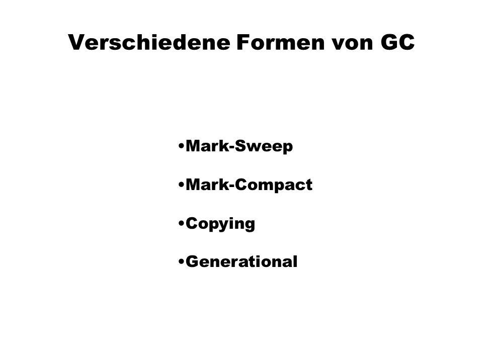 Verschiedene Formen von GC