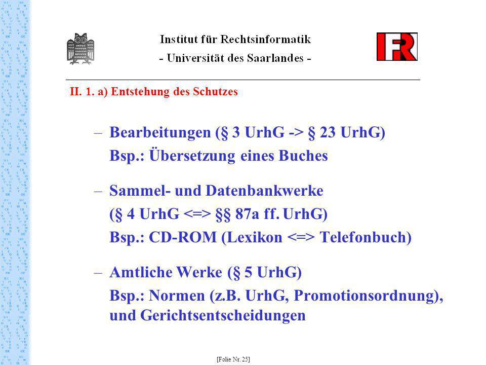 Bearbeitungen (§ 3 UrhG -> § 23 UrhG)
