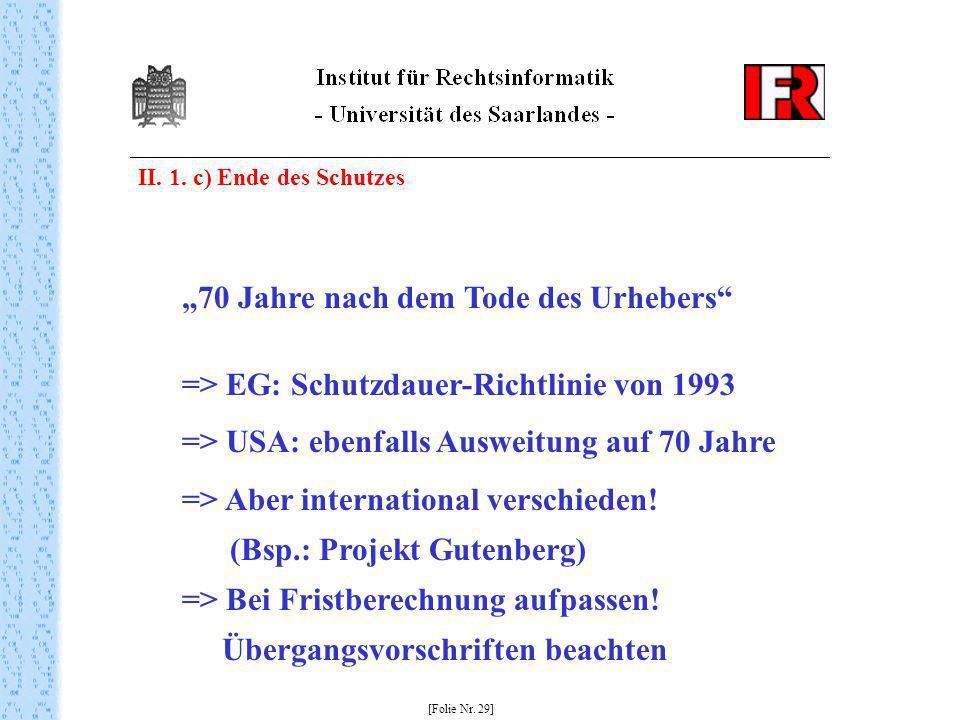 """""""70 Jahre nach dem Tode des Urhebers"""