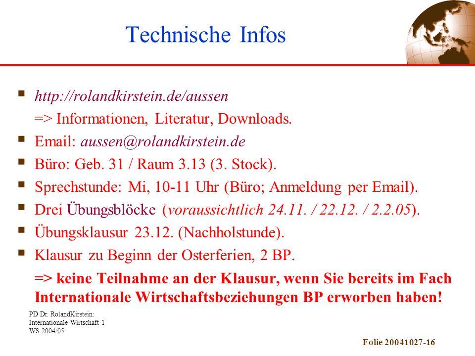 Technische Infos http://rolandkirstein.de/aussen