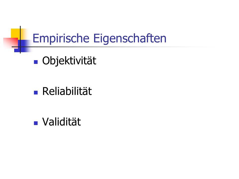Empirische Eigenschaften