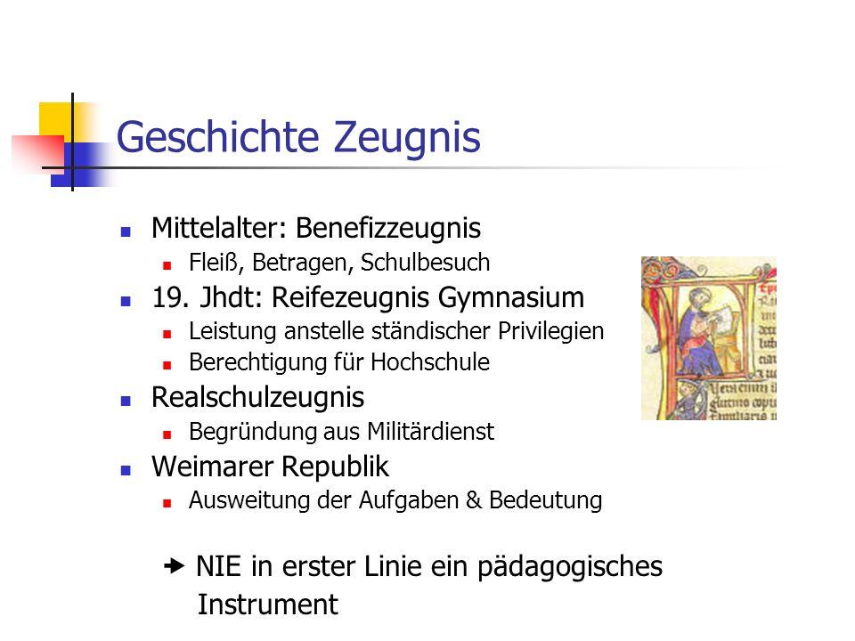 Geschichte Zeugnis Mittelalter: Benefizzeugnis