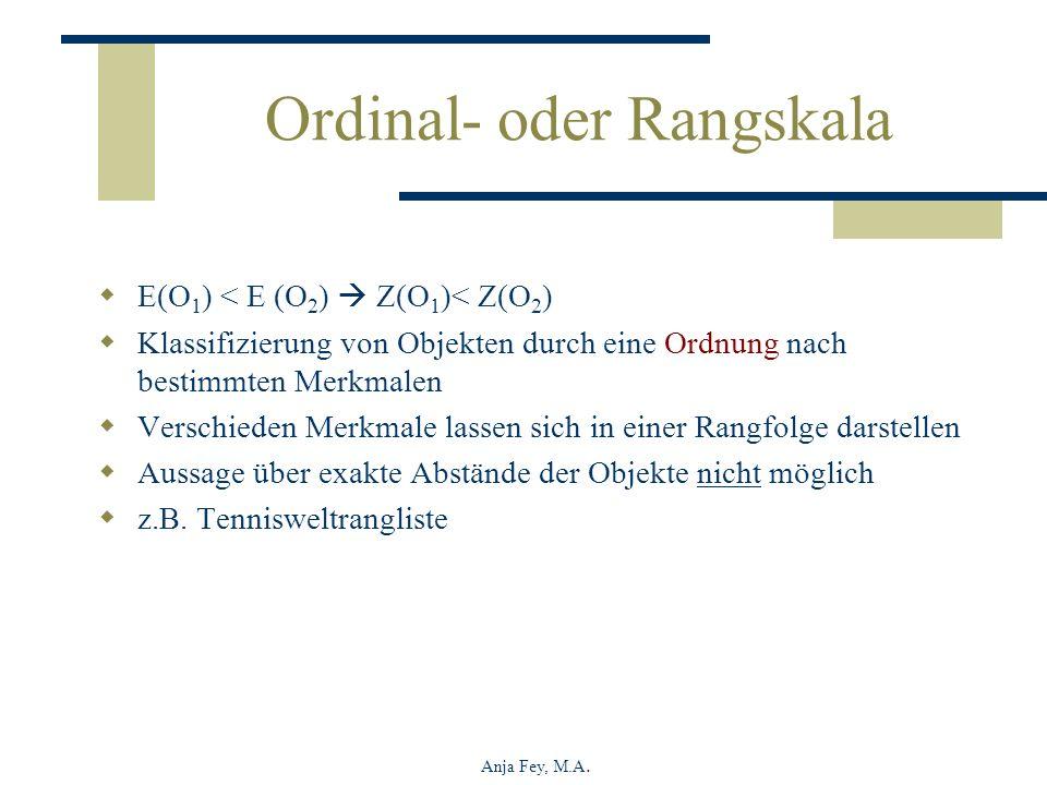 Ordinal- oder Rangskala