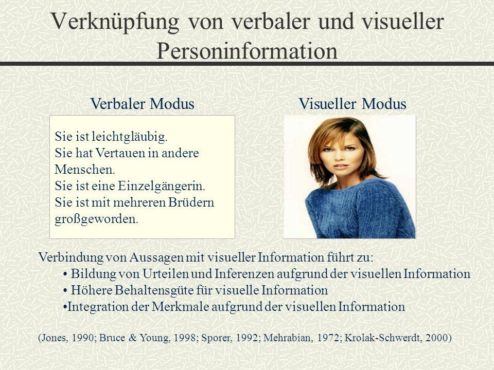 Verknüpfung von verbaler und visueller Personinformation