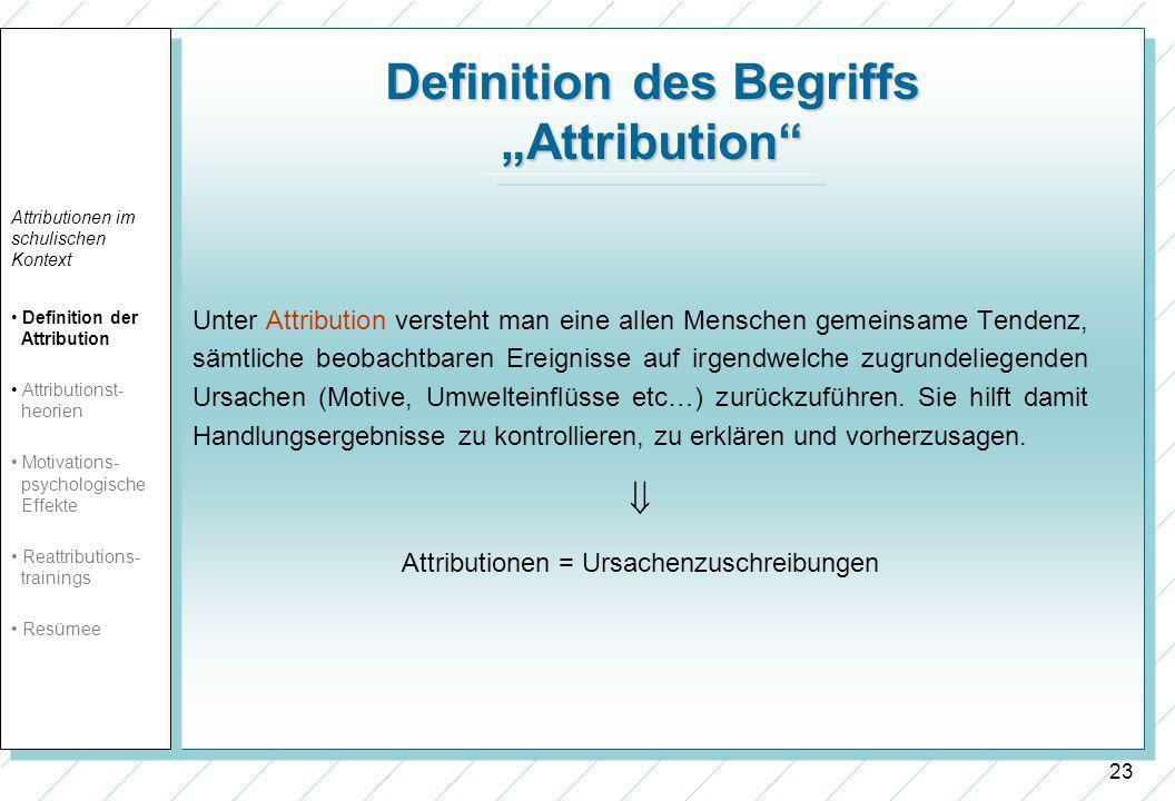 "Definition des Begriffs ""Attribution"