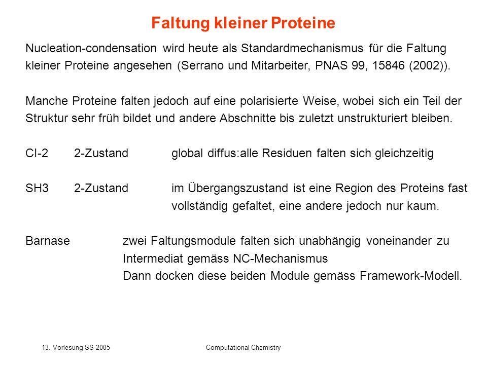 Faltung kleiner Proteine