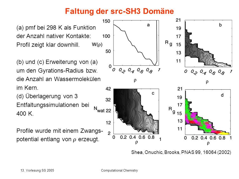 Faltung der src-SH3 Domäne