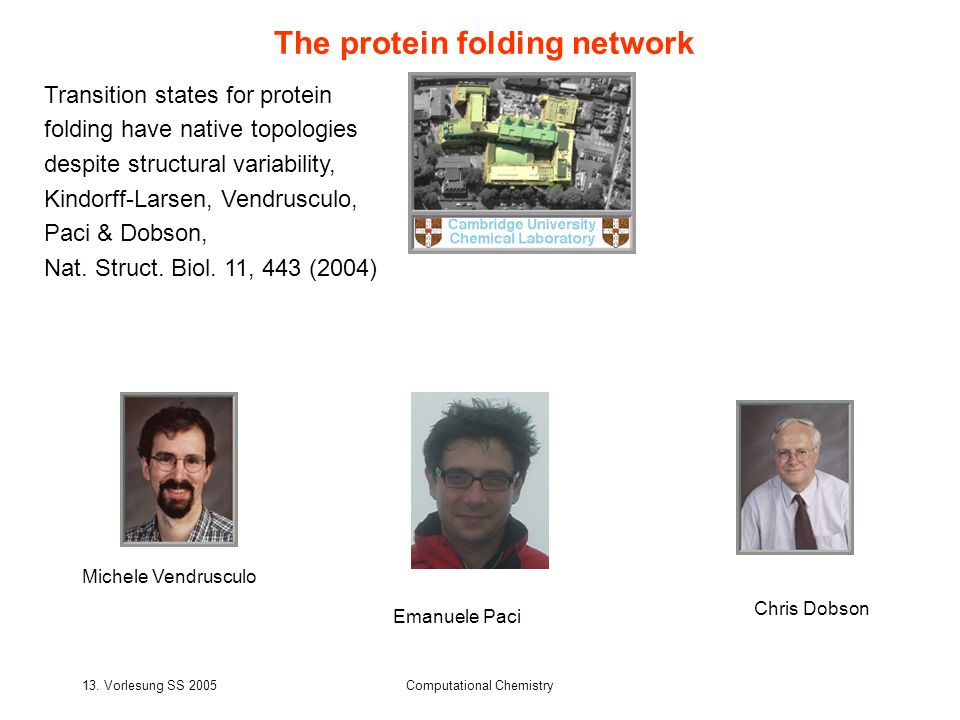 The protein folding network