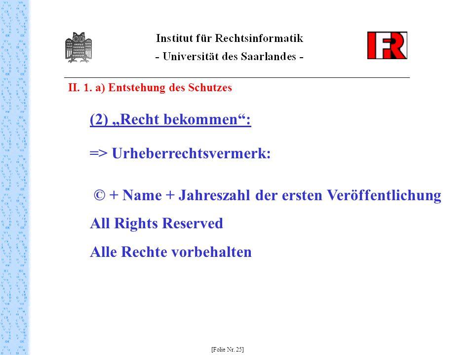 => Urheberrechtsvermerk: