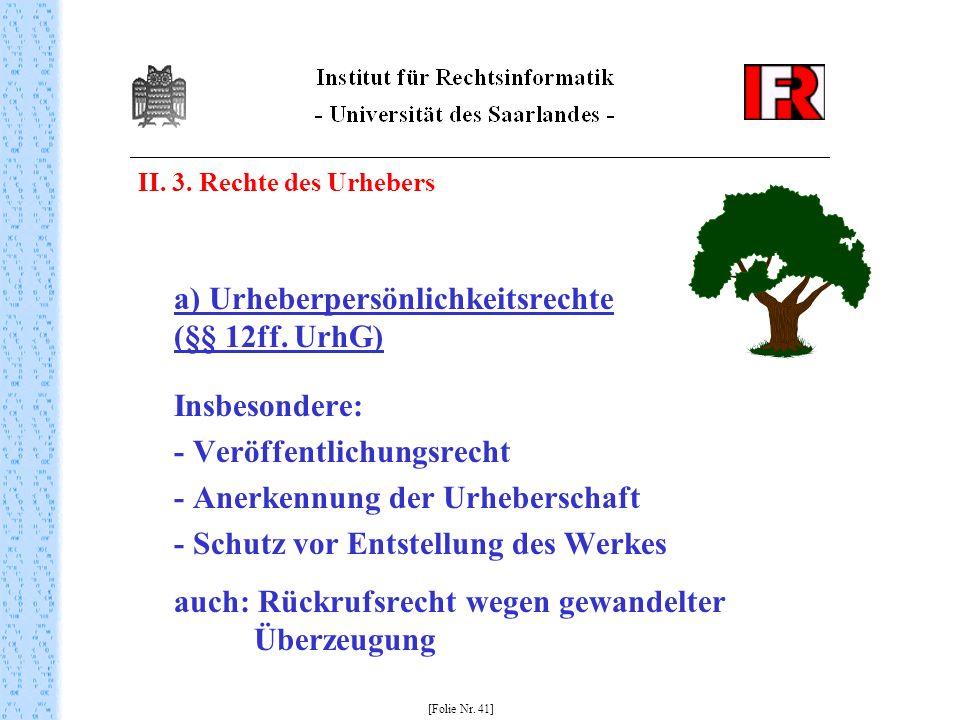 - Veröffentlichungsrecht - Anerkennung der Urheberschaft