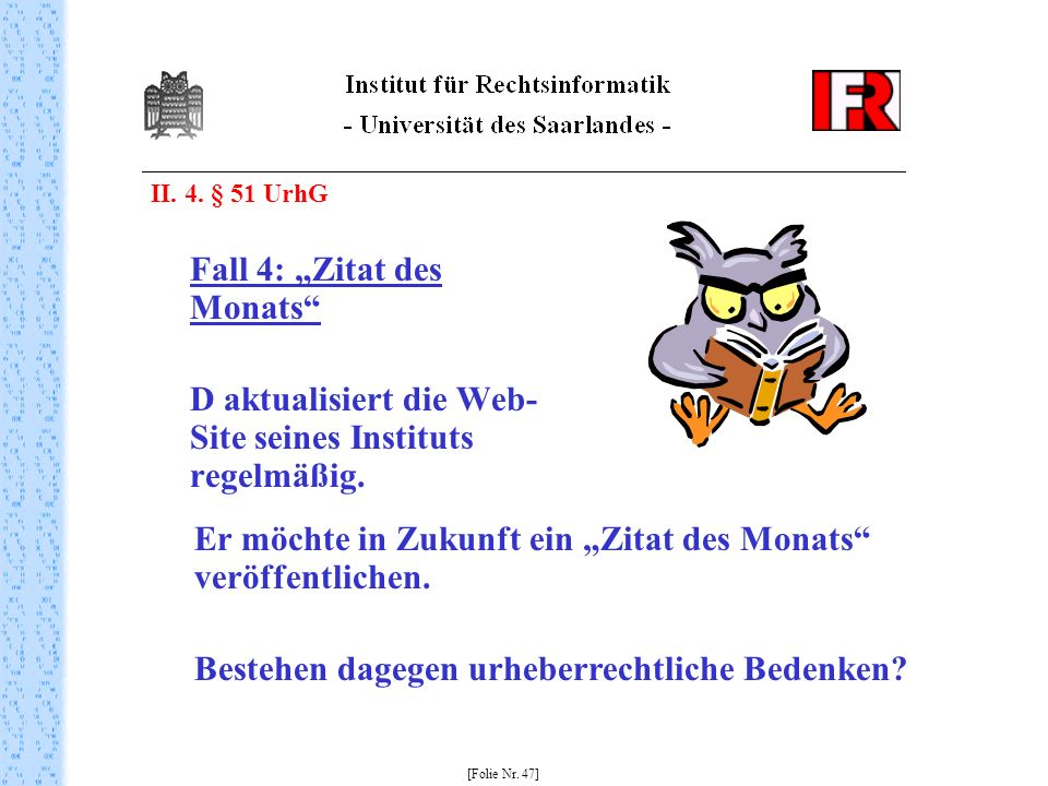 """Fall 4: """"Zitat des Monats"""