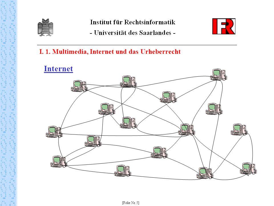 I. 1. Multimedia, Internet und das Urheberrecht