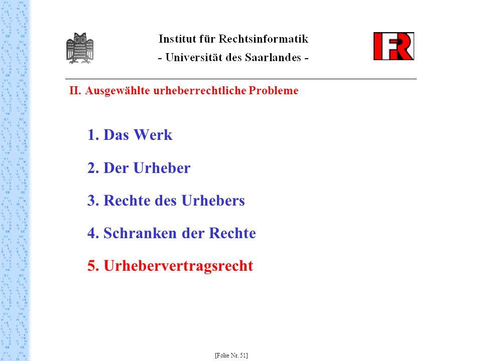 5. Urhebervertragsrecht