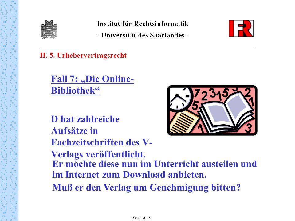 """Fall 7: """"Die Online-Bibliothek"""