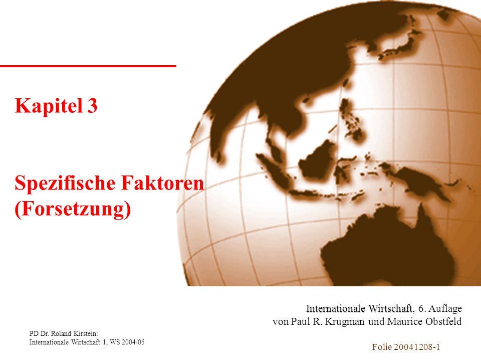 Kapitel 1 Einführung Kapitel 3 Spezifische Faktoren (Forsetzung)