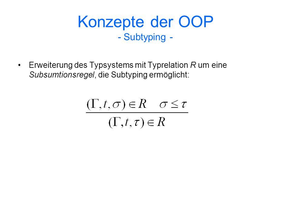 Konzepte der OOP - Subtyping -