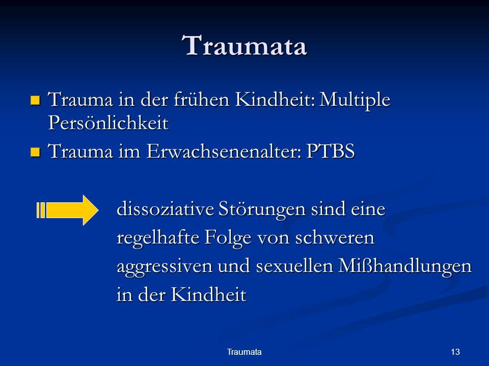 Traumata Trauma in der frühen Kindheit: Multiple Persönlichkeit