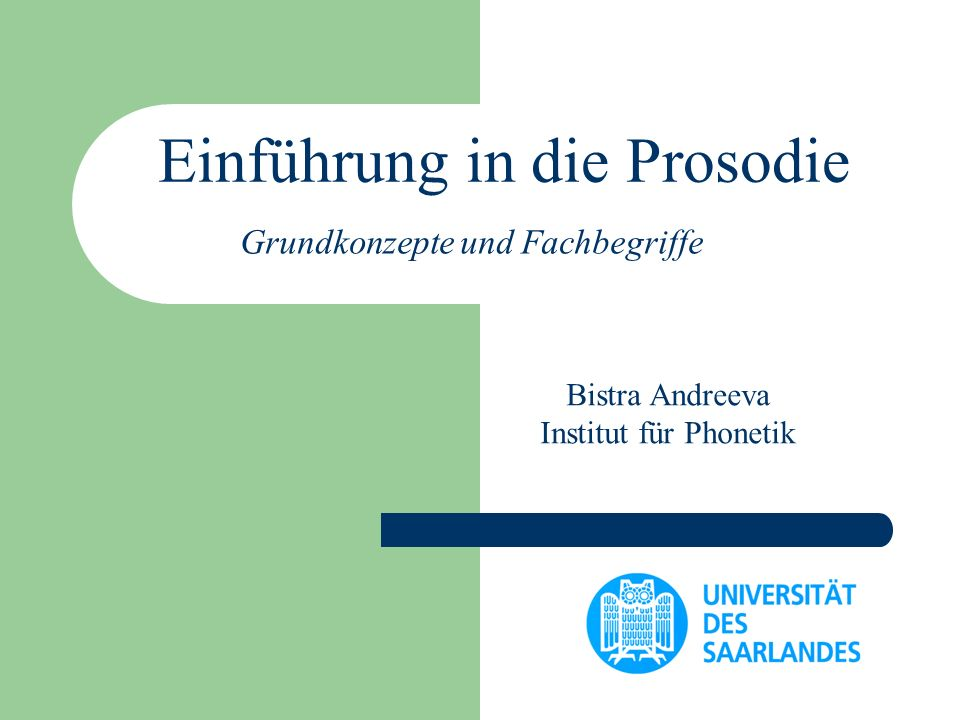 Einführung in die Prosodie