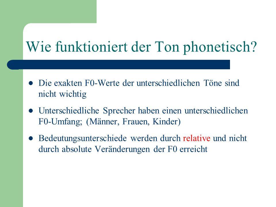 Wie funktioniert der Ton phonetisch