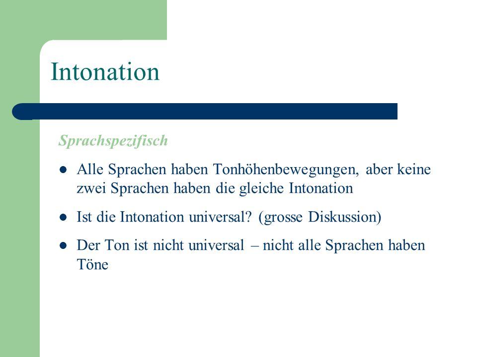 Intonation Sprachspezifisch