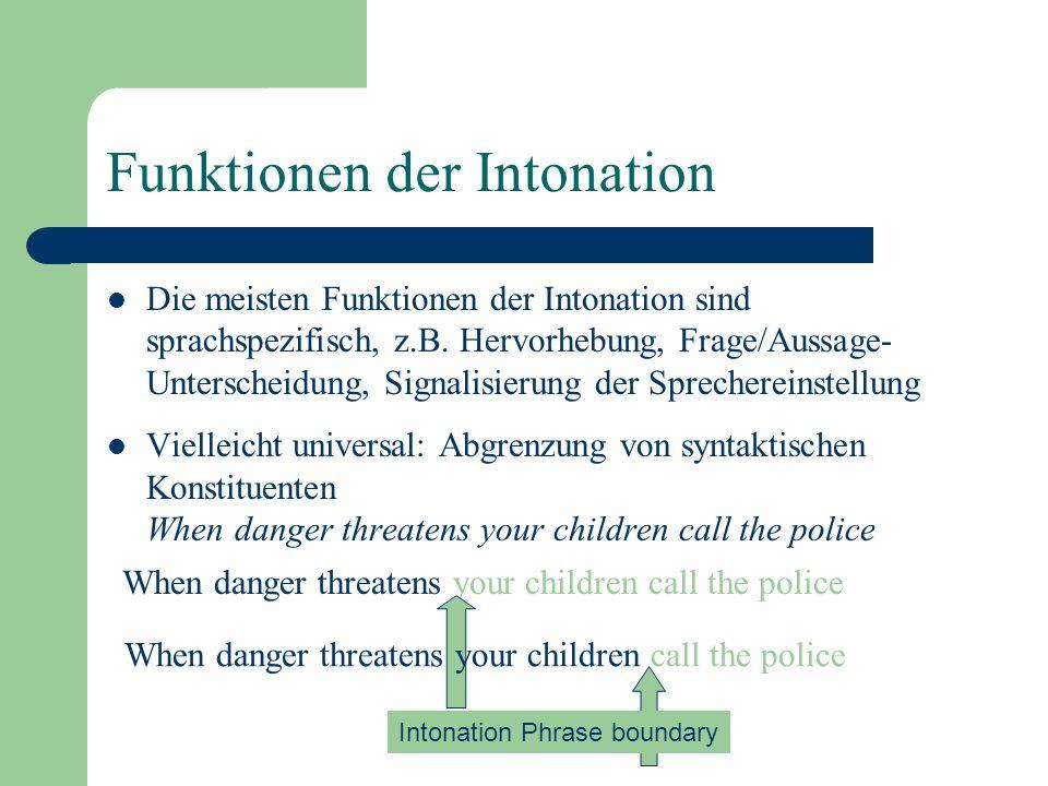 Funktionen der Intonation