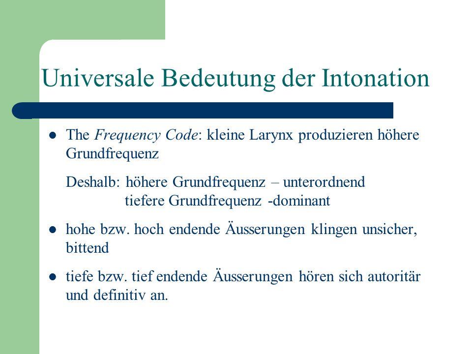 Universale Bedeutung der Intonation
