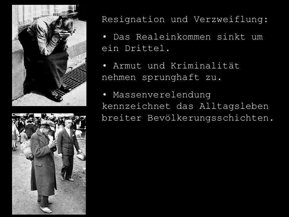 Resignation und Verzweiflung:
