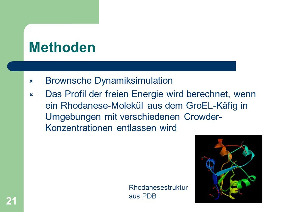 Methoden Brownsche Dynamiksimulation