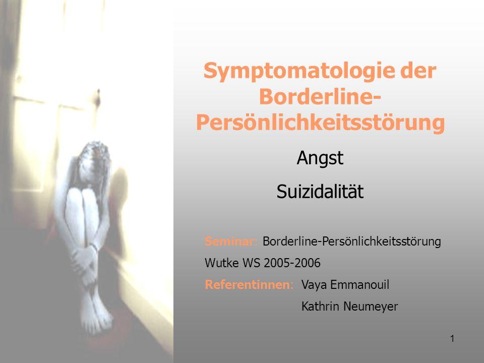 Symptomatologie der Borderline-Persönlichkeitsstörung