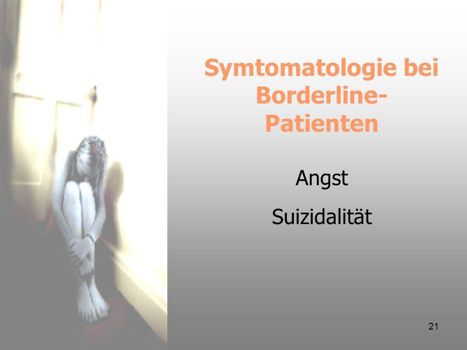 Symtomatologie bei Borderline-Patienten