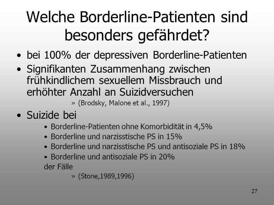Welche Borderline-Patienten sind besonders gefährdet