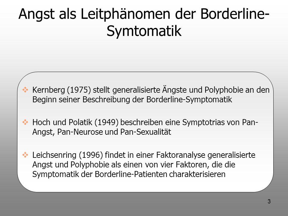 Angst als Leitphänomen der Borderline-Symtomatik