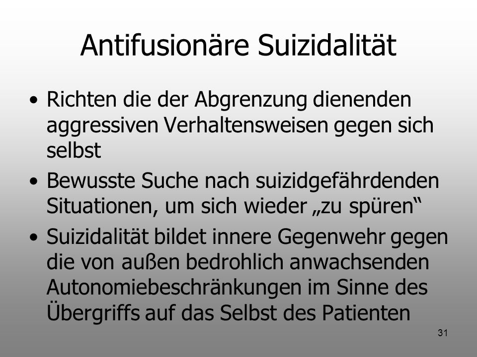 Antifusionäre Suizidalität