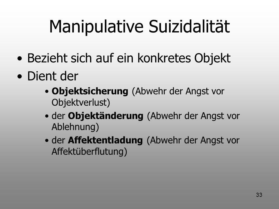 Manipulative Suizidalität
