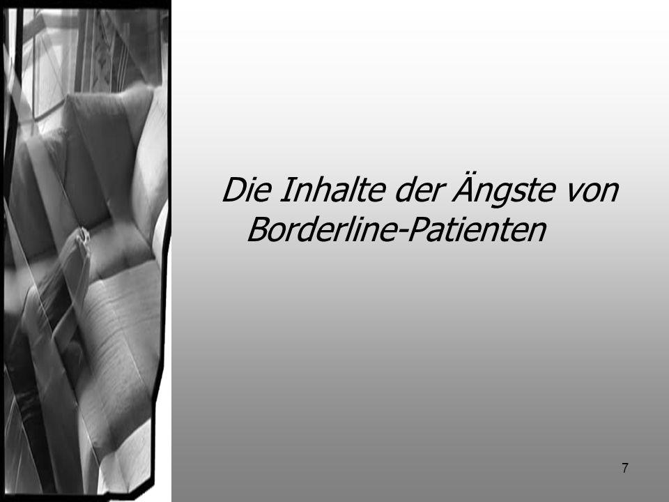 Die Inhalte der Ängste von Borderline-Patienten