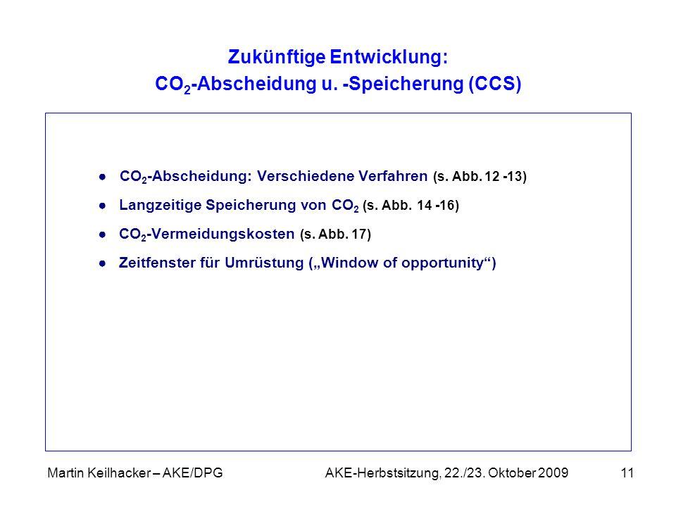 Zukünftige Entwicklung: CO2-Abscheidung u. -Speicherung (CCS)