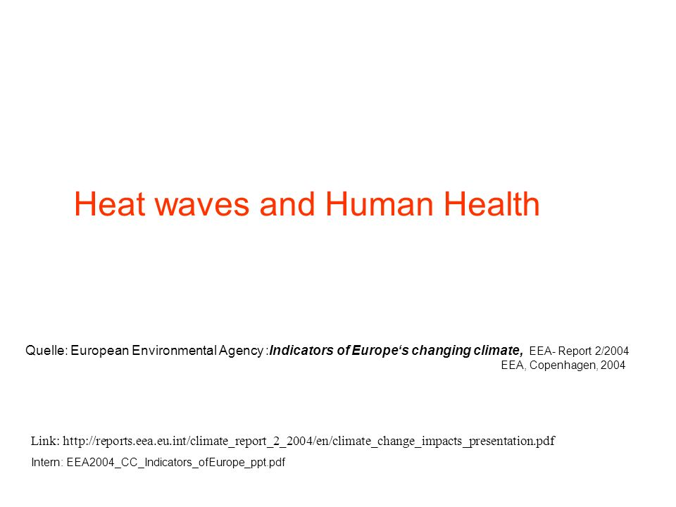 Heat waves and Human Health