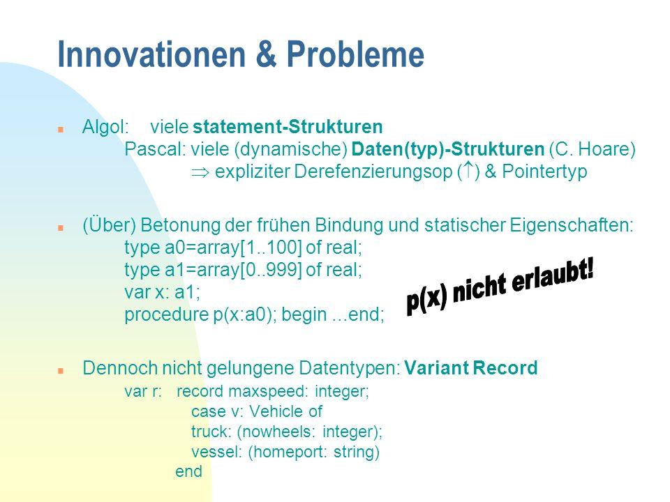 Innovationen & Probleme
