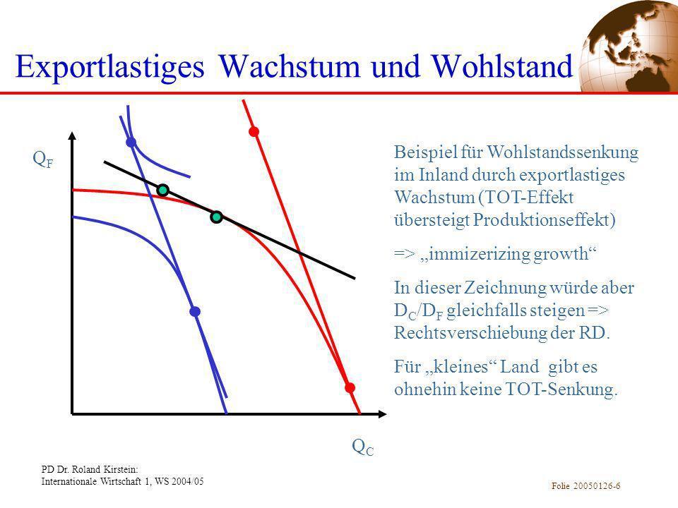 Exportlastiges Wachstum und Wohlstand
