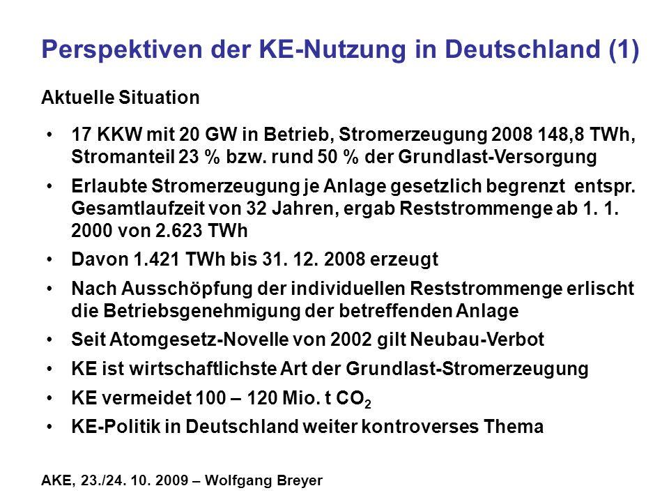 Perspektiven der KE-Nutzung in Deutschland (1)