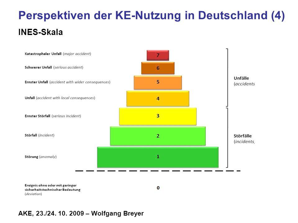 Perspektiven der KE-Nutzung in Deutschland (4) INES-Skala
