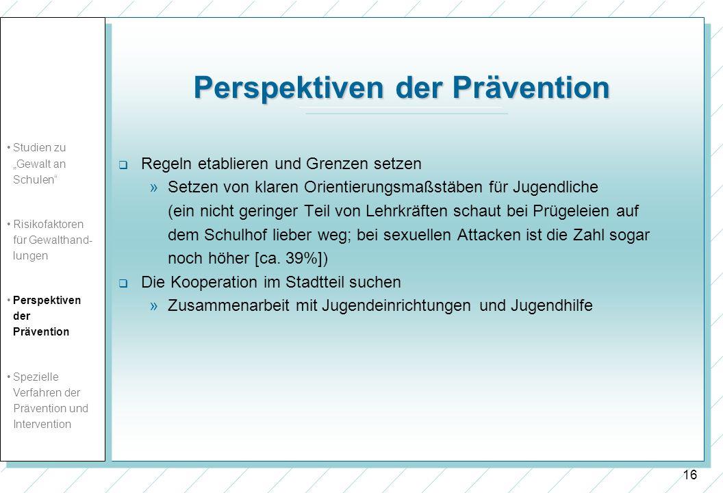 Perspektiven der Prävention