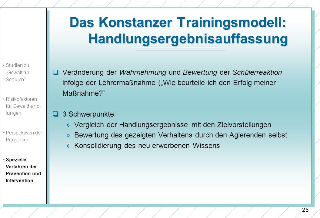 Das Konstanzer Trainingsmodell: Handlungsergebnisauffassung